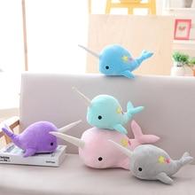 25-35 cm narval baleine binaire étoile poupée en peluche doux animal océan mer jouets en peluche pour enfants cadeau de noël enfant Brinquedos