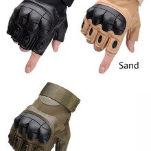 Sale Us Army Men's Tactical Gloves Outdoor Sports Half Finger Military Combat Anti-Slip Carbon Fiber
