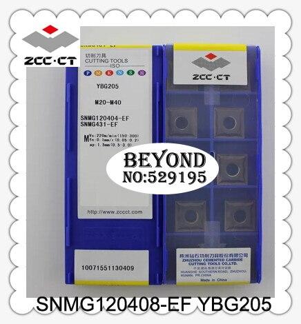 Original zcc SNMG120408-EF ybg205 snmg 120408 inserções de carboneto torno cortador torneamento ferramentas cnc 10 pçs inserção