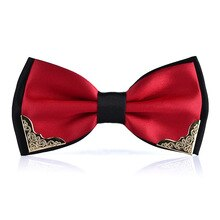 Luxury Boutique Metal Head Bow Ties for Men Women Butterfly Pink Bow Tie Men Wedding Necktie Blue Bowtie Gravata Cravatta