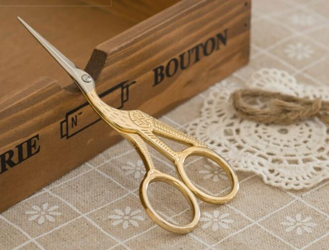 Высококачественные (золотые) винтажные ножницы в форме Heron, нож для поделок, товары для дома и офиса и школы