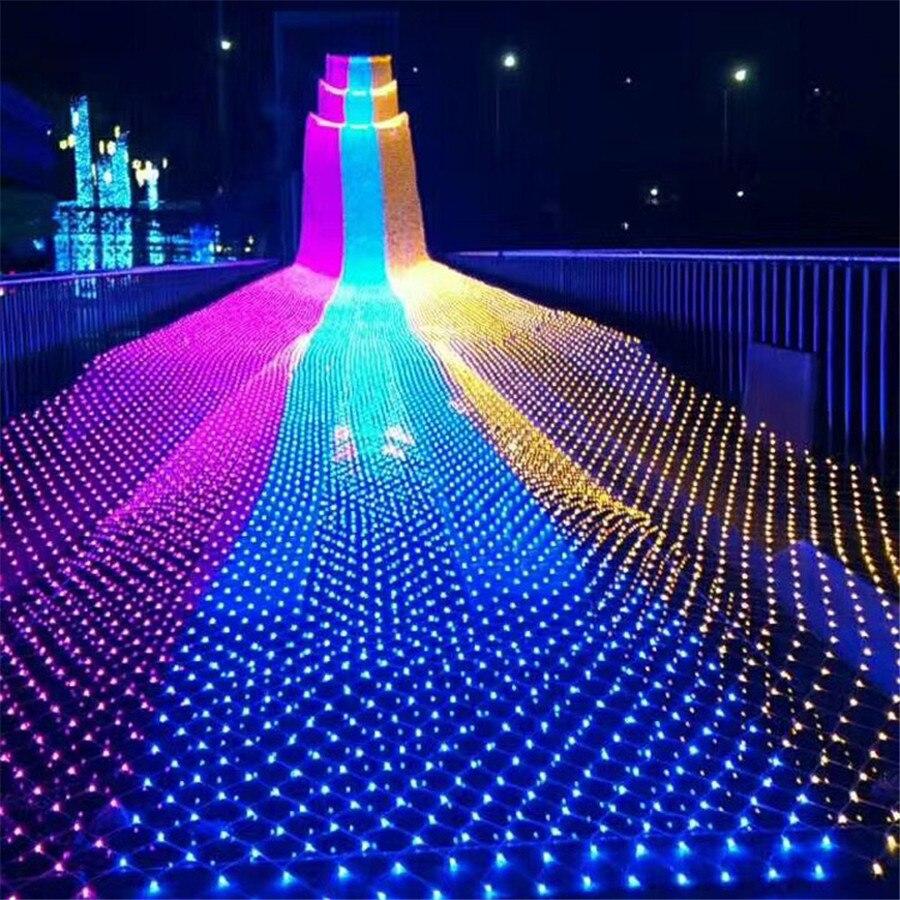 BEIAIDI 6X4M 720 LED Star Net Led String Light Curtain icicle Mesh Fairy Lights Christmas String Garland Wedding Holiday Light