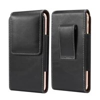 fashion pouch leather case for iphone 11 xs xr xs max for samsung note 9 8 5 s10 s9 s8 s7 s6 with card holder belt clip holster