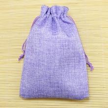 10 sztuk 9.5x13.5 cm fioletowy kolor pościel etui ze sznurka na biżuterię boże narodzenie/prezent ślubny worek z juty