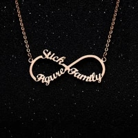 infinite name necklace custom necklaces unlimited stainless steel three names collar mujer wedding bride party necklaces
