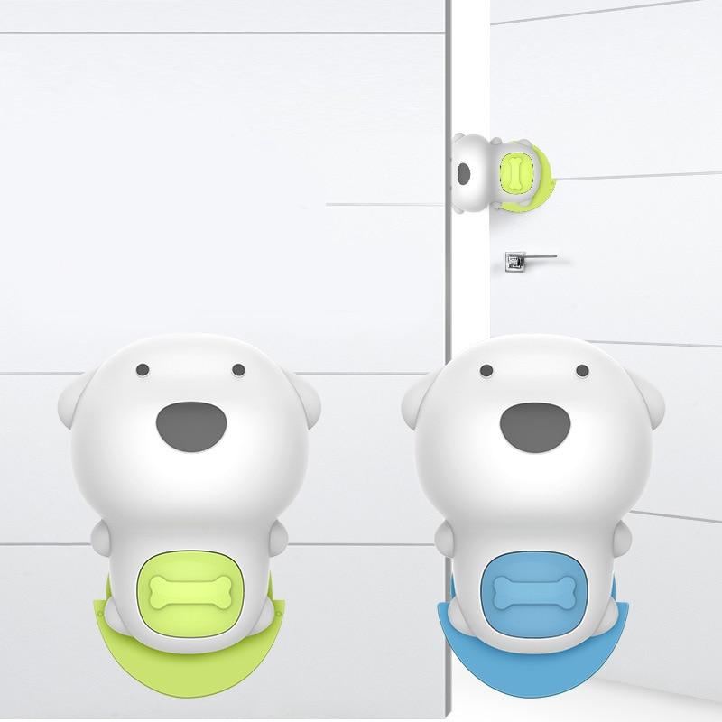Защитный замок для дверей мягкий пластиковый безопасности дома детей|Ворота и