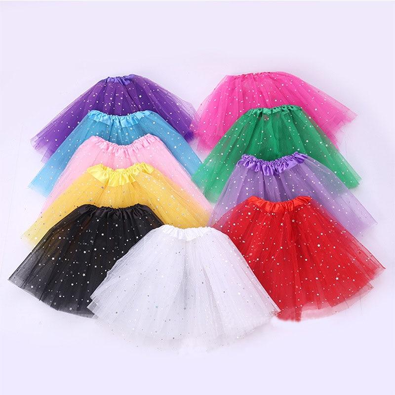 Baby Girls Kids Clothes Star Tutu Skirt Fluffy Children Ballet Dance Skirts Princess Party Girl Tulle Christmas
