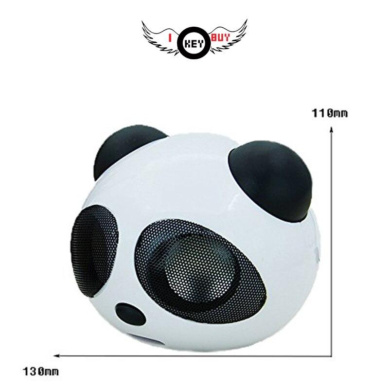 Mais barato mini panda bonito portátil alto-falante bluetooth som estéreo 3d 3 w driver de áudio com carregador usb cabo alto falantes