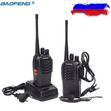 2 PCS Baofeng BF-888S Walkie Talkie bf 888s 5W Two-way radio Portable CB Radio UHF 400-470MHz 16CH Professional Handy Radio