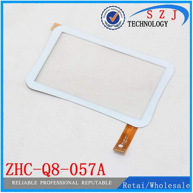 Original 7 pulgadas Allwinner A13 Q88 ZHC-Q8-057A Tablet pantalla táctil capacitiva panel cristal digitalizador con sensor envío gratis 10 Uds