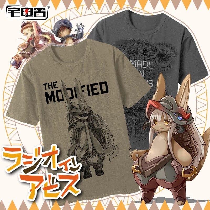 [STOCK] 2018 Anime Made in Abyss Nanachi Camiseta deportiva cuadrático elemento Cosplay disfraz S-2XL para Halloween envío gratis nuevo.