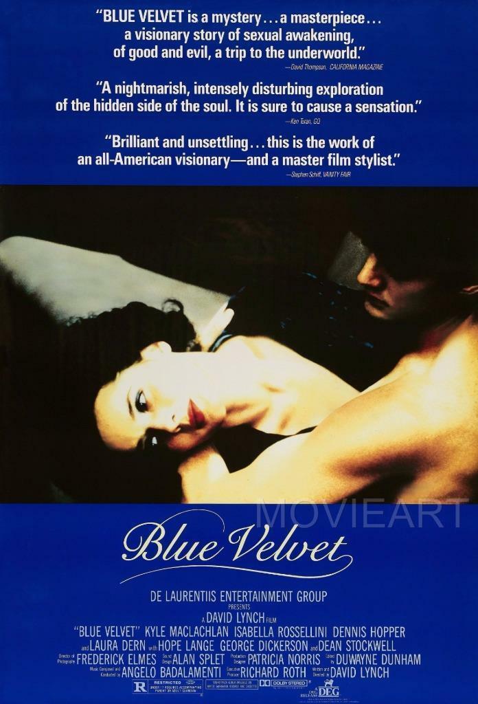 Cartel de película de seda de terciopelo azul, pintura para pared 24x36inch