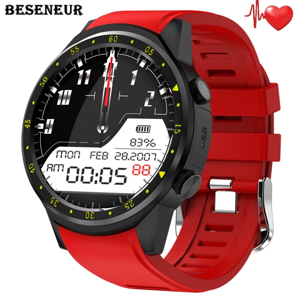 Reloj inteligente Beseneur F1 GPS para hombre, Monitor de ritmo cardíaco con cámara, tarjeta SIM, reloj inteligente Bluetooth para Android IOS, reloj de pulsera, teléfono