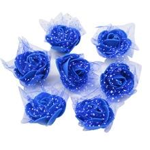 50 pièces/lot 3.5cm à la main mousse fleurs artificielle PE mousse Rose fleur tête de mariage décoration de la maison bricolage Scrapbooking artisanat 8Z