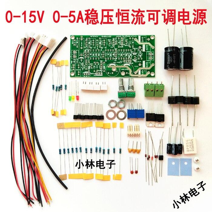 Fuente de alimentación ajustable fuente de alimentación de mantenimiento de alimentación de energía de prueba 3AG1 Suite 0-15 V 0-5A corriente constante LM317