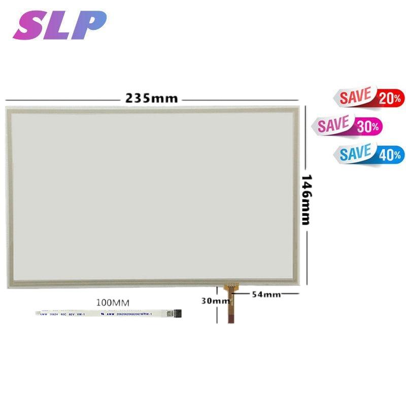 Skylarpu 10.2 polegada 4 Painel Touch Screen resistivo Para IPS LCD Touchscreen 235*146 235mm * 146mm Com Kit Controlador USB