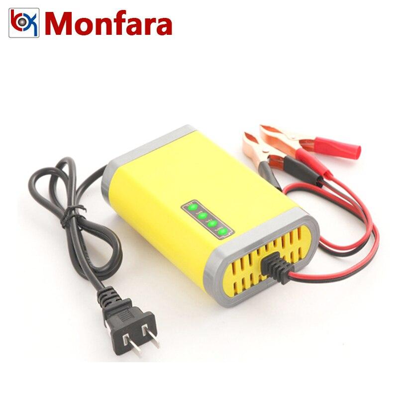 12V Automotive Motorrad Batterie Ladegerät für 7AH 10AH 12AH 20AH Auto Motor AGM GEL Blei Säure Batterie Auto Lade led-anzeige