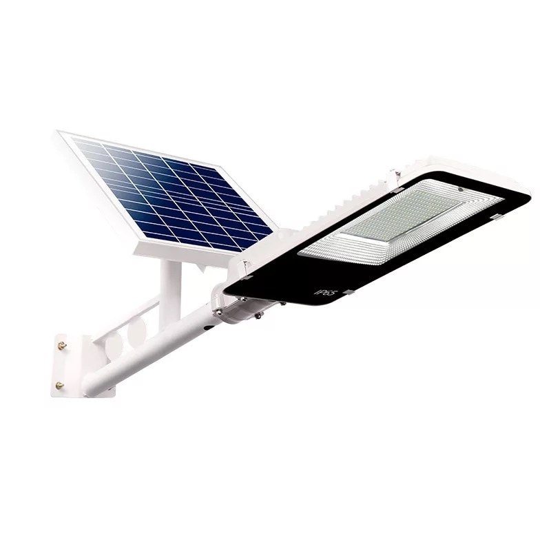LED Solar Street Light Outdoor Waterproof Panel Remote Control 100W Charge Garden