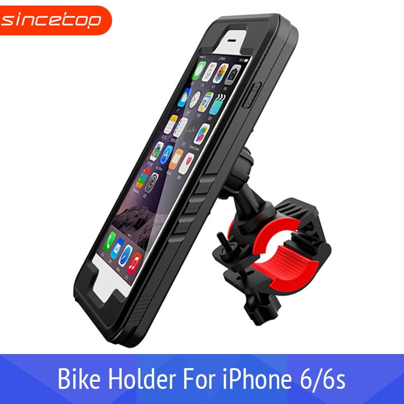 Soporte de teléfono de bicicleta GPS para iPhone6/6 s estuche impermeable, soporte de teléfono de bicicleta soporte de moto rcycle soporte para manillar soporte de moto