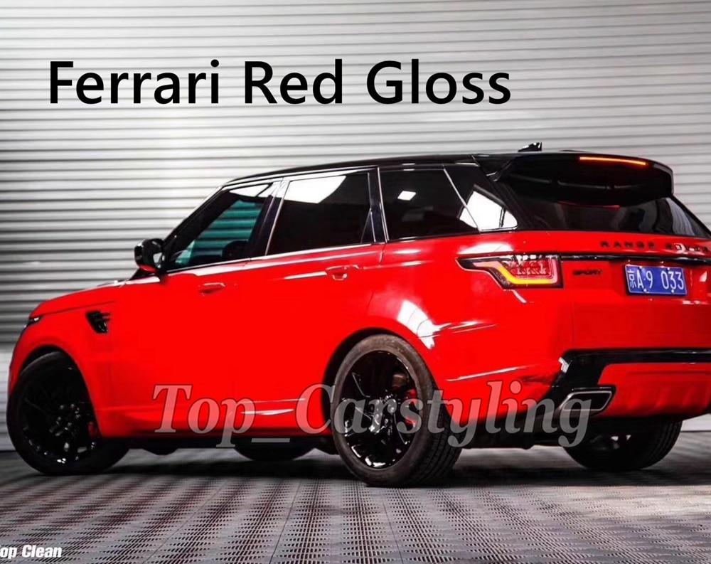 FerrariRed אדום גלוס גלוס ויניל לעטוף עבור כל רכב לעטוף כיסוי רדיד מדבקות PROTWRAPS כמו 3 M איכות למעלה 1.52X20 M/5x67ft