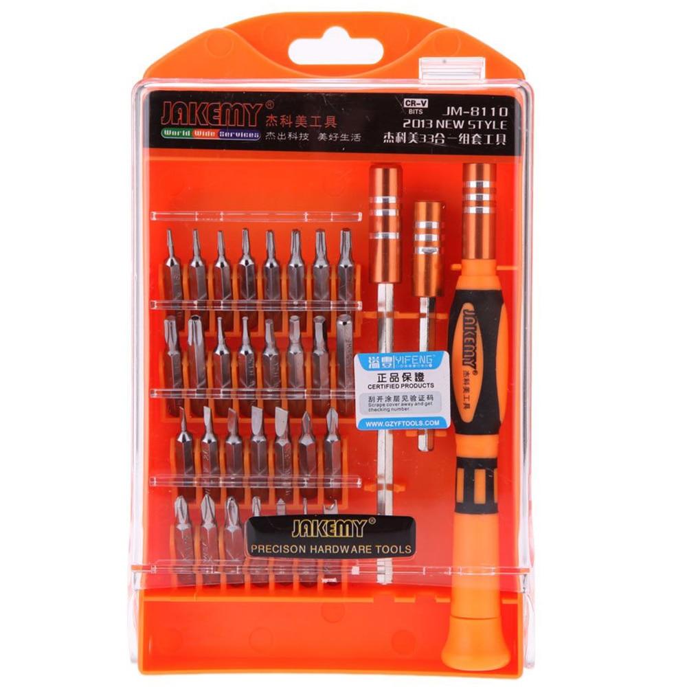 MYLB 8110 33 in 1 33 pcs Interchangeable magnetic Screwdriver Kit Repairing Tools Set