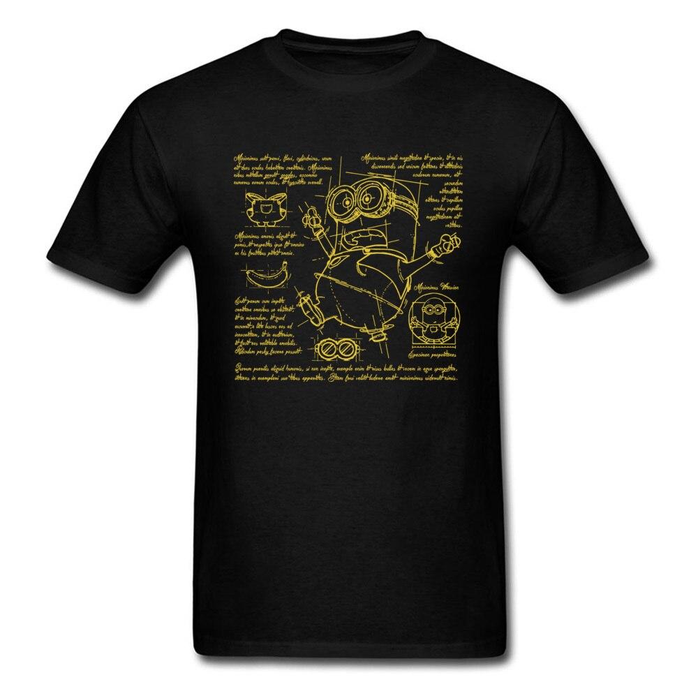 Hombres Camiseta de cuello en O Plan camiseta Minions divertido ropa de algodón de manga corta impresas de manga corta Tops clásico de camisa de camisas de fiesta venta al por mayor
