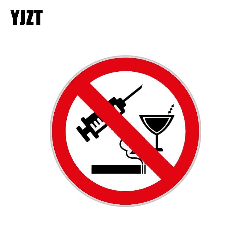 YJZT 11,9 CM * 11,9 CM, divertida Calcomanía para auto accesorios de PVC 12-1480 sin Alcohol