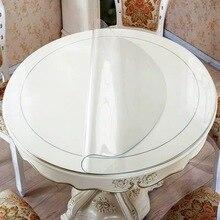 Protecteur de Table en PVC souple   BALLE épaisse, 2mm rond, couverture de Table transparente, protection de Table, tampon de bureau, verre doux, tapis en plastique robuste 2mm