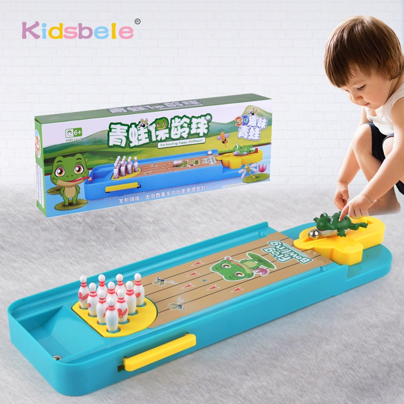 Mini Desktop Bowling Game Toy Funny Indoor Parent-Child Interactive Table Sports Game Toy Bowling Ed