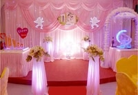 10ft20ft hot pink wedding backdrop romantic banquet stage curtain