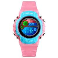SKMEI Fashion Kids Sports Watch Waterproof Boy Girl Wristwatch Countdown Alarm Luminous Digital Children Watches reloj