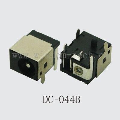 شحن مجاني 100 قطعة/الوحدة العاصمة السلطة جاك (PJ044)PIN1.7/2.0/2.5 * O.D.5.5 DIP 6pin موصل DC-044B