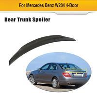 Car Rear Wing Spoiler Lip for Mercedes-Benz C Class W204 Sedan 2007 - 2014 Carbon Fiber Trunk Lip