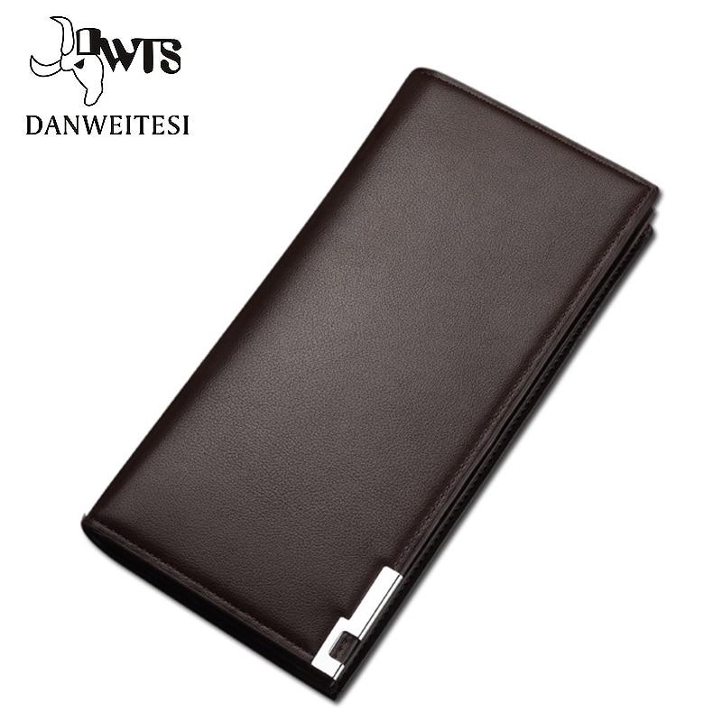 [DWTS] cartera para hombre, tarjetero clásico de estilo largo, monedero de calidad para hombre, cremallera de gran capacidad, Cartera de lujo de marca grande para hombre
