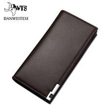 [DWTS] portefeuille hommes classique long style porte-carte homme sac à main qualité fermeture éclair grande capacité grande marque luxe portefeuille pour hommes