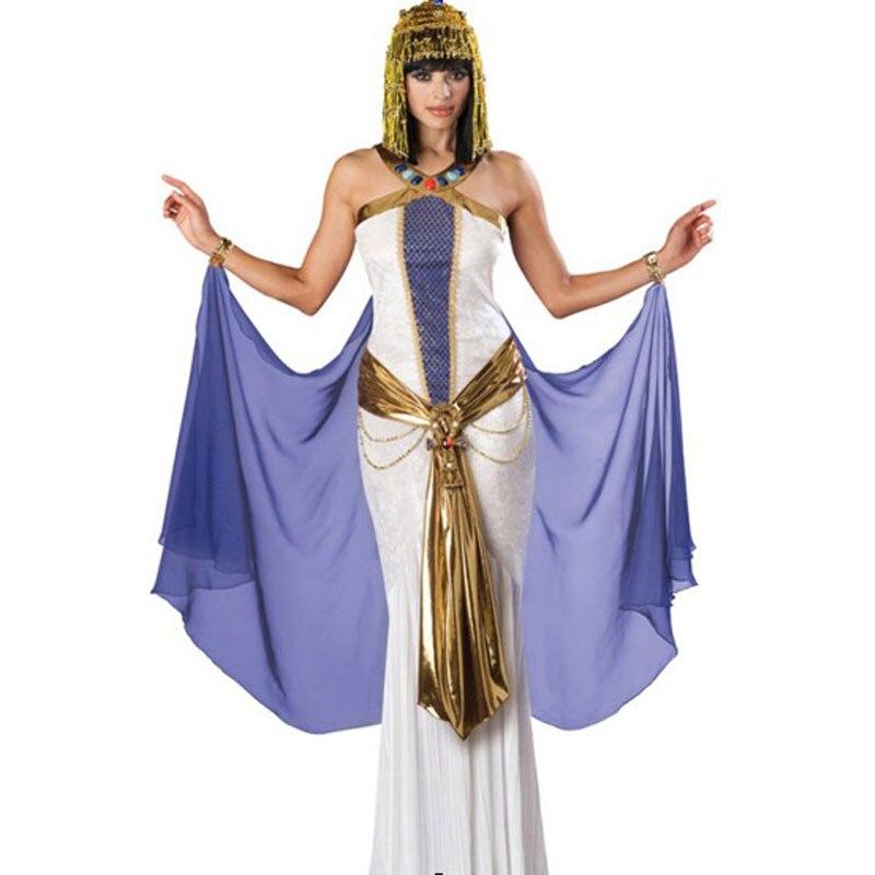 Disfraz de Cleopatra de diosa egipcia hermosa reina del Nilo, disfraz de Halloween real para mujer, disfraz de halloween y Carnaval