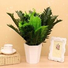 1 Bunch 18 Heads Artificial Silk Plants Cycas Palm Tree Garden Home Decoration Artificial Cycas Palm Tree