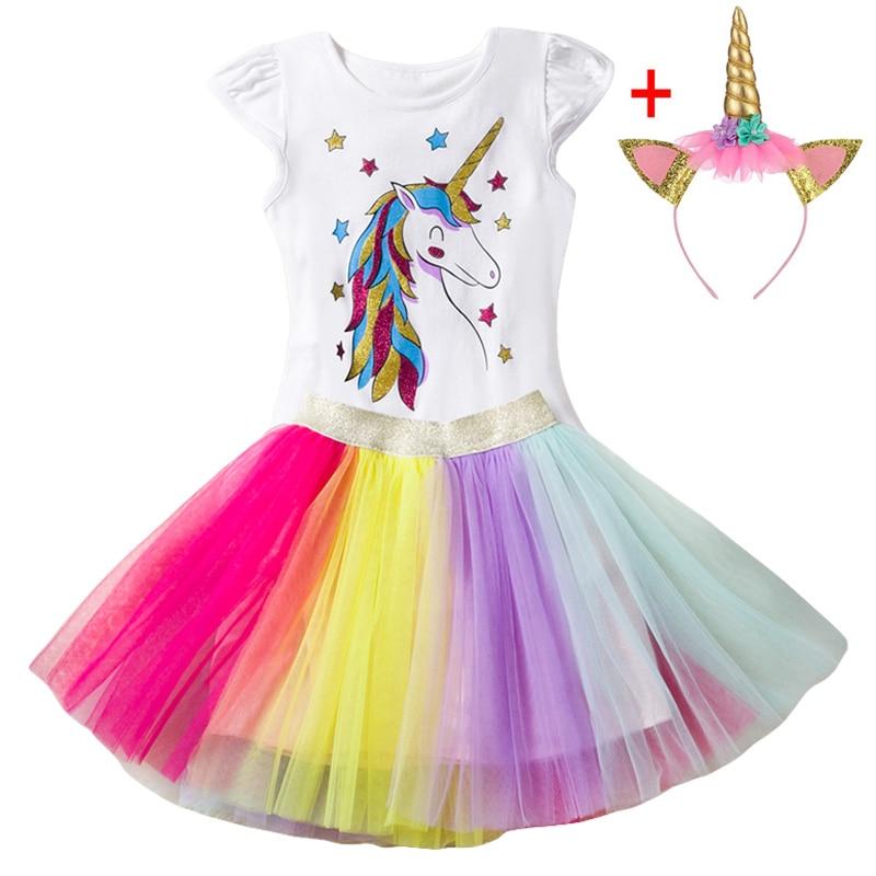 vestido fantasia infantil Summer Children Girls Princess Dress Costume Kids Dresses For Girls Unicorn Party Dress 3 4 5 6 7 Year