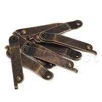 8pcs Bronze Home Furniture Decorative Lid Support Hinge Stay 6.7x0.43 L Size