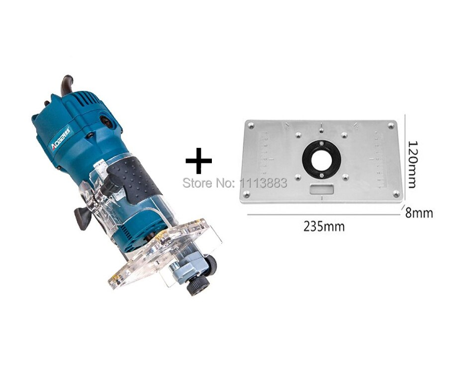 Plaque dinsertion + coupe-bordure 520 W, pince 1/4