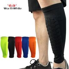 Valable 1 PC protège-tibia en nid dabeille sport professionnel boucliers de Football Legging de Football protège-jambes manches de protection