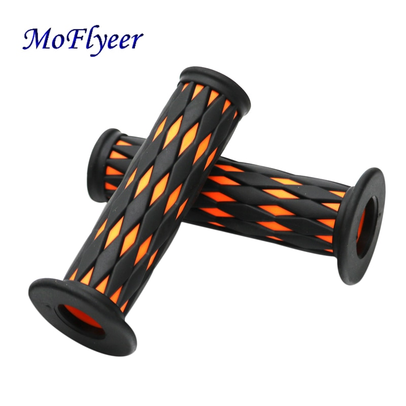 Moflyeer punho de motocicleta, alça com padrão e função antiderrapante para motocicleta de alta qualidade