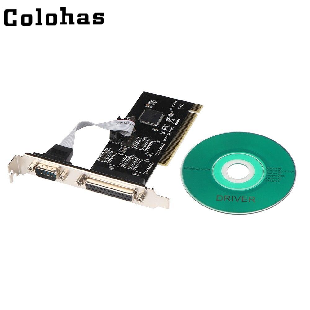 Серийный порт RS232 RS-232, COM & DB25 принтер, параллельный порт LPT к PCI карте, удлинитель адаптера, конвертер TX382A