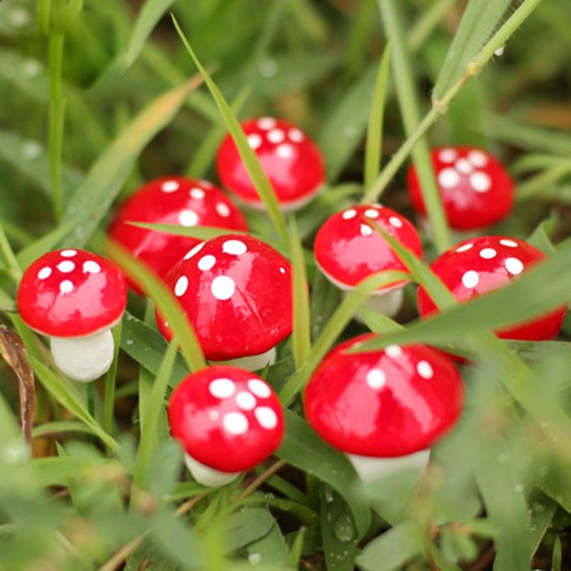 2016 новинка, хит продаж, 10 шт., сделай сам, мини-красный гриб для мини-растений, горшки, декор феи, кукольный домик для сада
