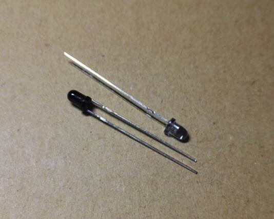 5 Par PT204-6B IR204-A infrarrojos Fototransistor y EverlInfrared lámpara LED