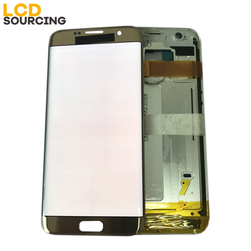 AMOLED LCD For Samsung Galaxy S7 Edge G935 G935F G935FD Display LCD Touch Screen Digitizer Assembly Red Burn No / With Frame enlarge