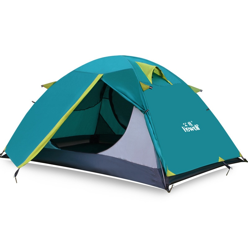 Hewolf 1572 Double Layer Aluminum Poles Ultralight 2 Person Waterproof 3 Season Camping Tent Beach Tent Barraca
