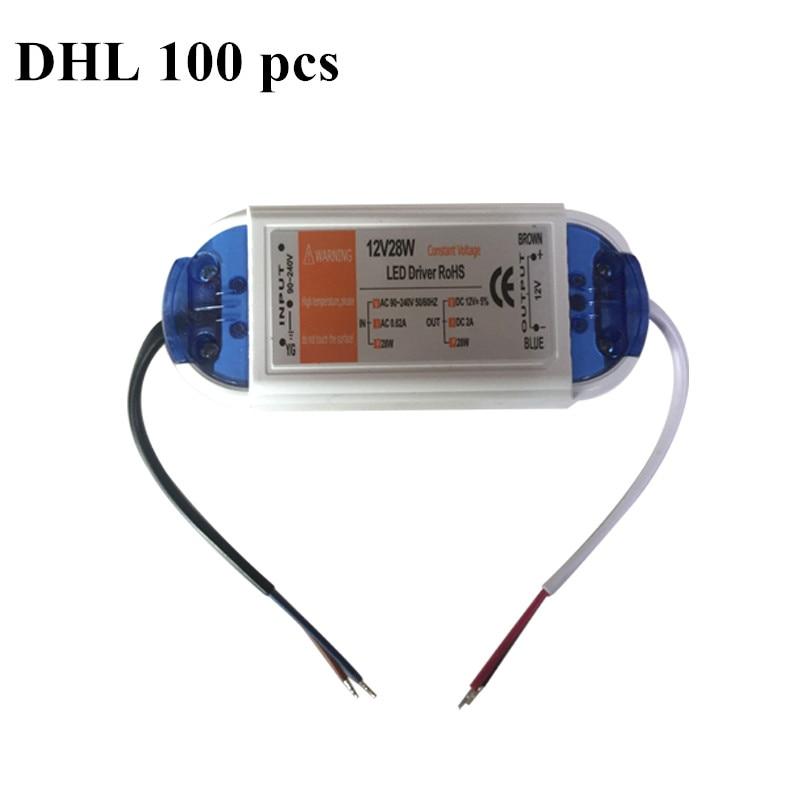 100 PCS best-selling AC voltage 90-240V led power supply led transformer 12v led driver 28w for led strip mr16 mr11
