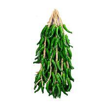 Nocm-best artificiel (mc) chaîne de piment piment fort chaîne suspendue décor à la maison fruits végétaux (vert)