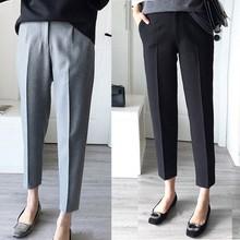 Liva Girl Suit Pants Female Summer  Korean Version Of The Loose Student Straight Pants Pipe Pants Casual Pants Feet Pants